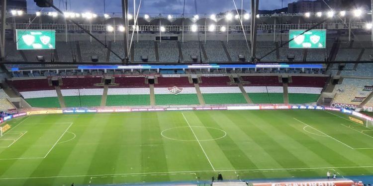 Maracanã vazio para Fluminense na Libertadores — Foto: Felipe Siqueira